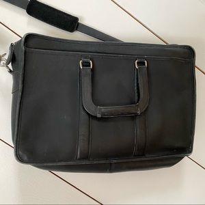 Coach black briefcase